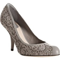 Christian Dior grey cut-out suede 'Dior Byz' pumps | BLUEFLY up to 70% off designer brands