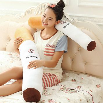 1pcs 80cm Smoking cylindrical sleeping Cigarette pillow Boyfriend birthday gift plush toys