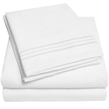 1800 Thread Count 4 Piece Sheet Set Premium Microfiber Deep Pocket Bed Sheets - JCPenney