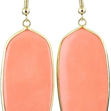 Women's Stone Crystal Dangle Drop Earrings Teardrop/Oval