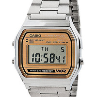 A158WA-9Casio Silver & Camel Digital Watch