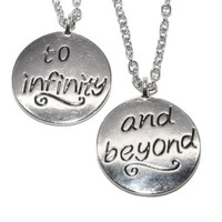 Lux Accessories Best Friends BFF Forever To Infinity & Beyond Necklaces .(2 PC)