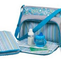 Baby Boy Large Messenger Diaper Bag With Changing Pad