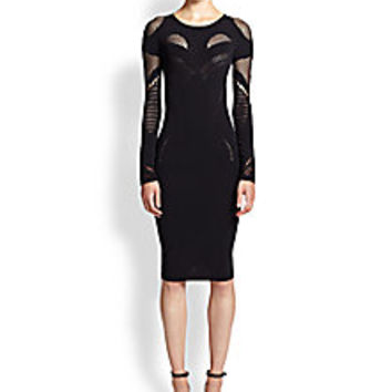 McQ Alexander McQueen - Mesh Long-Sleeve Dress - Saks Fifth Avenue Mobile