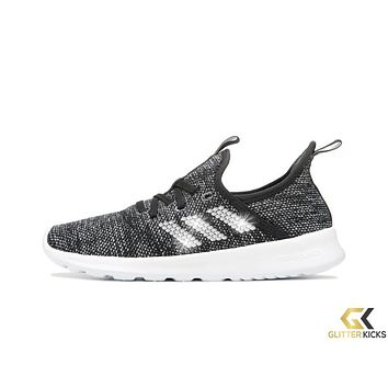 Adidas Cloudfoam Pure Sneaker + Crystals - Black/White