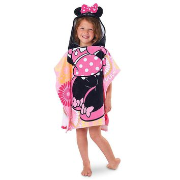 Licensed cool NEW Princess Minnie Mouse Pink Clubhouse Poncho Hooded Beach Towel Disney Store