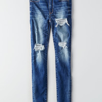AEO Denim X Super Hi-Rise Jegging, Destroyed Bright