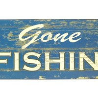 Gone Fishin' Tin Sign | Shop Hobby Lobby