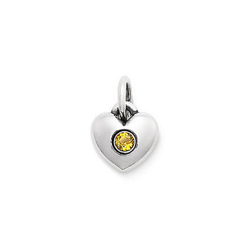 Keepsake Heart Charm with Citrine