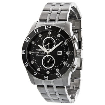 Invicta Signature II Divers Black Dial Mens Watch 7447