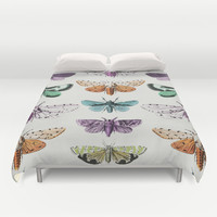 Techno-Moth Collection Duvet Cover by Zeke Tucker