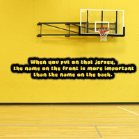 Vinyl Wall Decal Sticker Team Importance Quote #5190