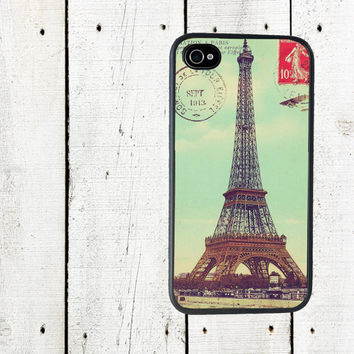 Eiffel Tower Postcard iPhone case  Cell Phone Case  by Arete