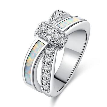 Cubic Zirconia Jewelry Wedding Party Engagement Love Statement Ring