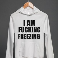 White Hoodie | Funny Angry Winter Shirts