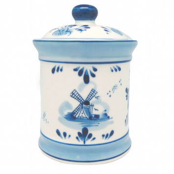 Delft Blue Ceramic Coffee Canister