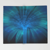 Throw Blanket - 'Fountain of Light' - Home Decor - Home, Decor, Modern, Home Warming Gift, Symmetry, Bohemian, Boho, Abstract