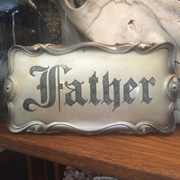 """""""Father"""" Coffin Plate"""