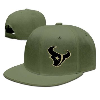 Houston Texans Salute To Service Logo Printing Unisex Adult Womens Baseball Cap Mens Hip-hop Caps