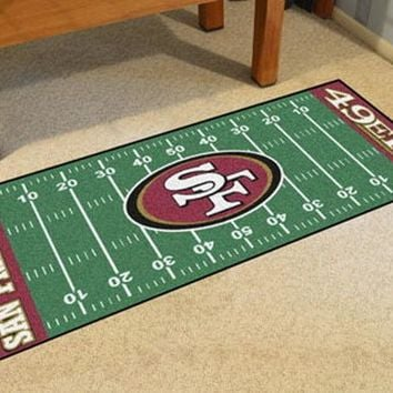 FANMATS San Francisco 49ers Field Runner Mat Area Rug, Man Cave, Bar, Game Room
