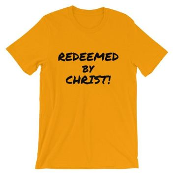 Made to Order, Redeemed By Christ GOLD COLOR Unisex Tee Shirt