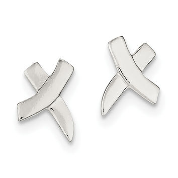 Sterling Silver X Earrings QE915