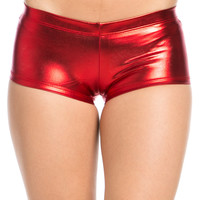 Faux Booty Shorts Red