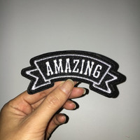 amazing hat patch embroidered patch iron on patch sew on patch