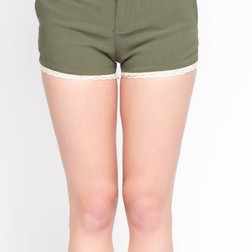 SHORTS WITH CROCHET TRIM