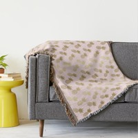 Gold Pineapple Pattern Throw