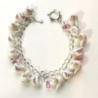 High Tea Bracelet with Tea Cups and Teapots