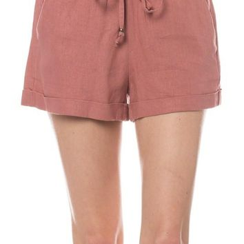 Mid-rise Linen Shorts (multiple colors available)