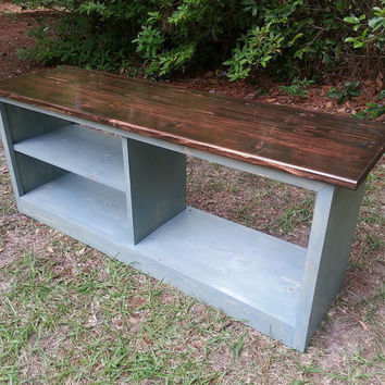 Rustic Cottage Shoe  Bench