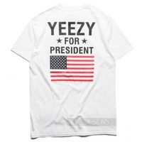 Indie Designs Yeezy For President Printed T-shirt