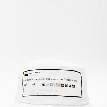KANYE WEST Tweet Bucket Hat | KYC Vintage
