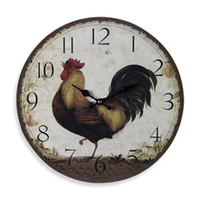 Large Rooster Wall Clock