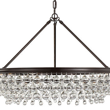 Calypso 6-Light Chandelier, Bronze - Crystorama - Brands | One Kings Lane
