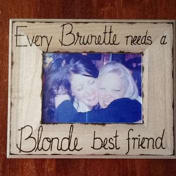 Blonde and Brunette Best Friend Frame