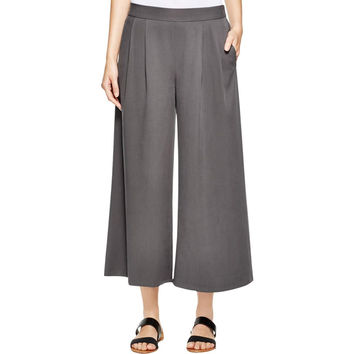Eileen Fisher Womens Tencel Wide Leg Wide Leg Pants