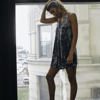 Under the Moonlight Velvet Dress Silver