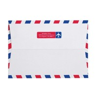 Airmail 5x7 envelopes from Zazzle.com