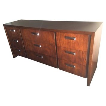 Pre-owned Vintage Lane Dresser with Chrome Handles