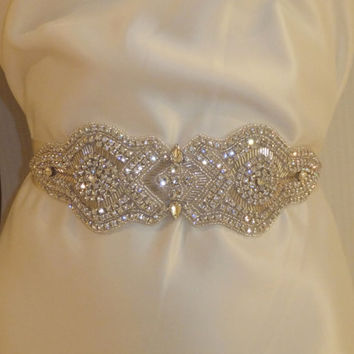 Bridal Sash, DANIELLE, Rhinestone Sash, Bridal Sash, Wedding Sash, Bridal Belt