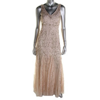 Sue Wong Womens Lace Embellished Formal Dress