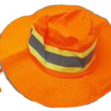 bright orange booney mens ventilated reflective safety hat Case of 24
