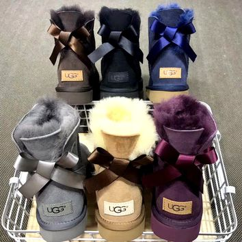 Free shipping-UGG plus velvet warm and comfortable tube snow boots