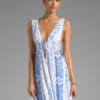 Indah Anjeli Plunging V Neck Maxi Dress in Borneo Violet from REVOLVEclothing.com