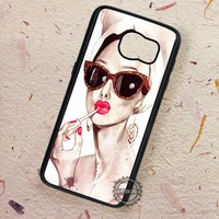 Sensual Art Paint Audrey Hepburn - Samsung Galaxy S7 S6 S5 Note 7 Cases & Covers