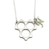 Water Necklace Molecule Necklace Science Necklace STEM Necklace Initial Chemistry Necklace Water Jewelry Science Jewelry Water Molecule
