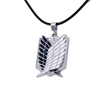 Attack on Titan New Cartoon Anime  investigation Corps flag wing necklace cool metal necklace men jewelry